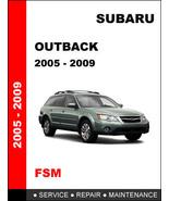 SUBARU OUTBACK 2005 2006 2007 2008 2009 FACTORY SERVICE REPAIR WORKSHOP ... - $14.95