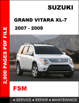 2002 suzuki grand vitara xl-7 repair shop manual set original.