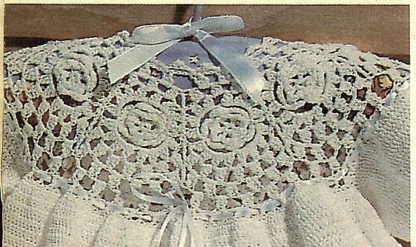 Rarethread Crochet Rose Motif Christening And 50 Similar Items