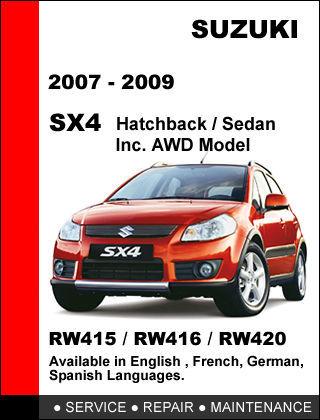 suzuki sx4 2007 2008 2009 factory service repair workshop 2010 suzuki sx4 service manual 2012 Suzuki SX4 White