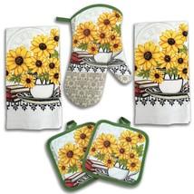 Sunflower Kitchen Decor 5 Piece Linen Set - $24.46