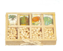 CLASSIC DOLLHOUSE MINIATURES SEED PACKETS IN TRAY #B1583 - $1.99