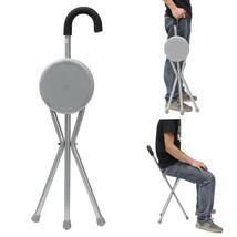 Outdoor Travel Folding Stool Chair Portable Tripod Cane Walking Stick Seat - $17.81