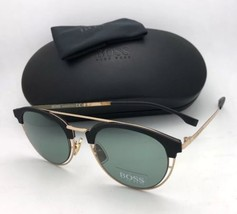 New HUGO BOSS Sunglasses 0784/S J5G5L 49-21 145 Gold & Matte Black Frame w/ Grey
