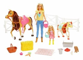 Barbie - Barbie And Chelsea With Horses And Accessories (Mattel FHX15) - $294.45