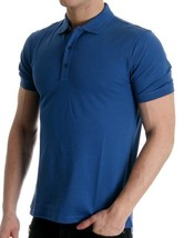NEW MEN'S HUGO BOSS SPORT COTTON POLO SHIRT T-SHIRT DARK BLUE 50100615 SIZE S