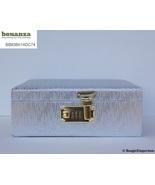 BangleEmporium Bangles Storage Box Four Stick Red Velvet Silver Combinat... - $44.95