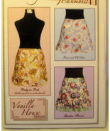Vintage Apron Patterns Vanilla House 3 Styles Uncut - $4.49