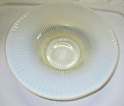 "Fenton Glass Large Opalescent Smooth Rays Console Serving Bowl Rays Pattern 11"" - $24.95"