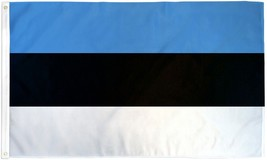 "ESTONIA 3X5' FLAG NEW 3'X5' 3 X 5 FEET 36X60"" BIG - $9.85"