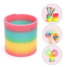 Huge Slinky Jumbo Rainbow Magic Coil Large Plastic Spring Bounce Toy Coo... - $9.80
