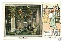 NEW YORK NY PRINCE GEORGE HOTEL TEA ROOM 1918 P... - $6.83