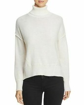 NEW H. ONE Split Off White Back Turtleneck Acrylic Wool Knit Sweater XL MSRP $88 image 1