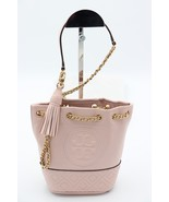 NWT Tory Burch Fleming Mini Pink Leather Bucket Shoulder Bag New  49321 ... - $228.00