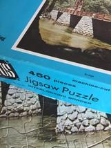 "Vintage 50s Whitman Bonus Interlocking Border Jigsaw Puzzle- #4651 ""Bridge""  image 4"