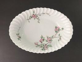 """Haviland Limoges Eglantine 10⅝"""" Oval Vegetable Serving Bowl Dish Swirl Torse - $95.00"""