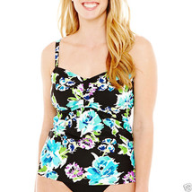 ca40aebe60 St. John's Bay Floral Print Flyaway Tankini Swim Top Plus Size · Add to  cart · View similar items