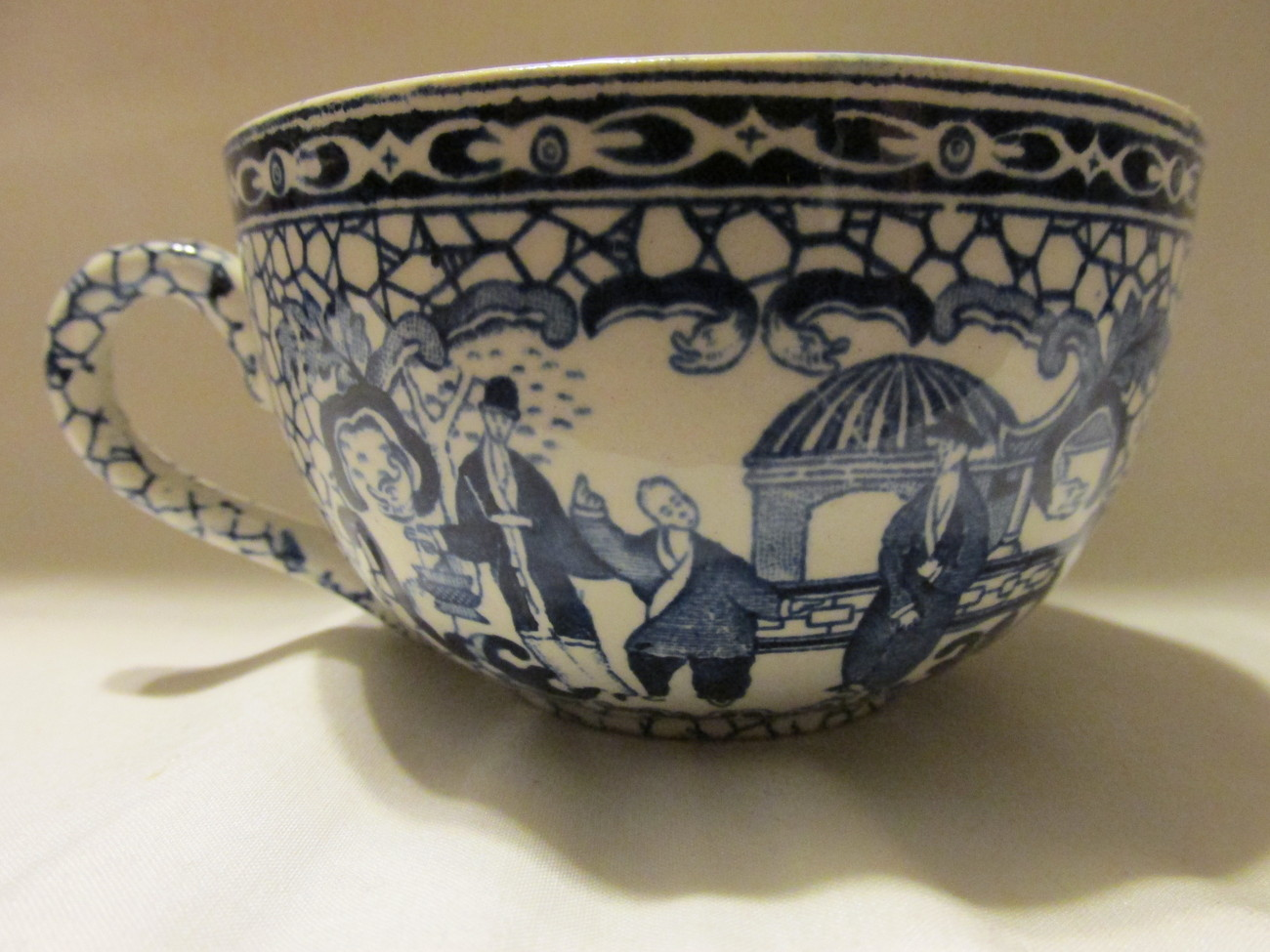Vintage / Antique William Adams English Ironstone Cup and Saucer - 1913