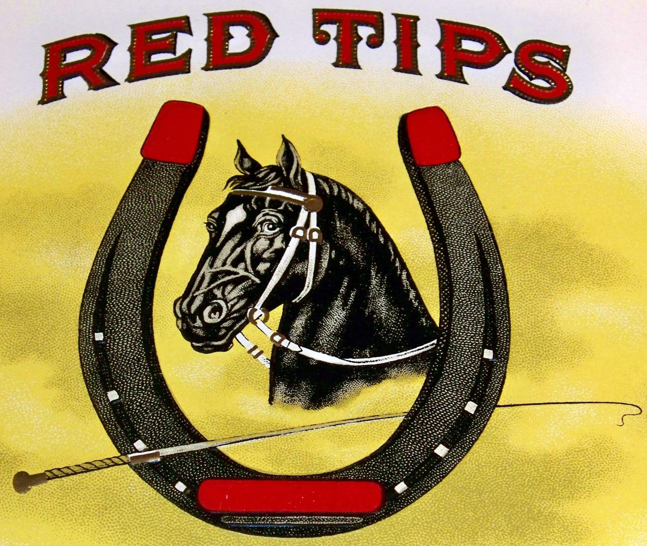 Red tips inner cigar label 002