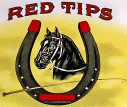 Lucky Horseshoe! Red Tips Embossed Inner Cigar ... - $2.49