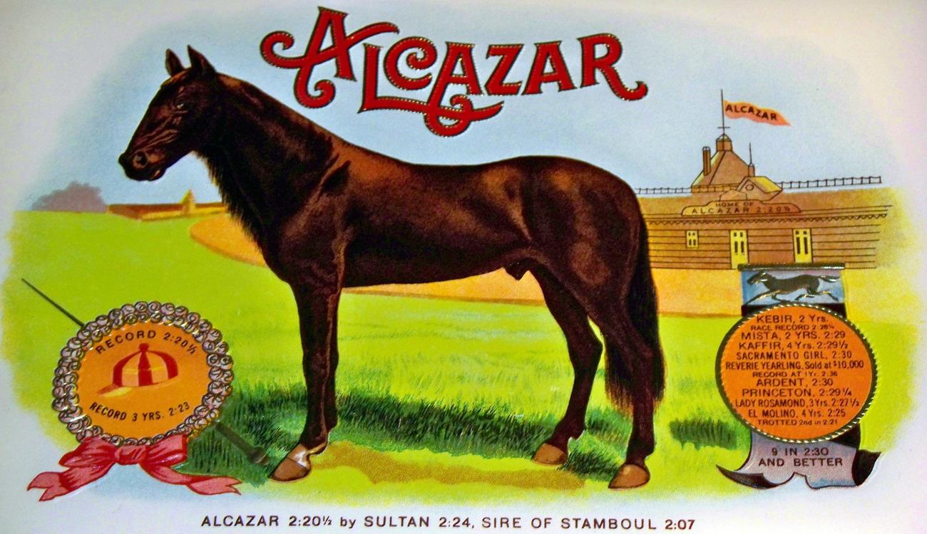 Alcazar cigar label 002