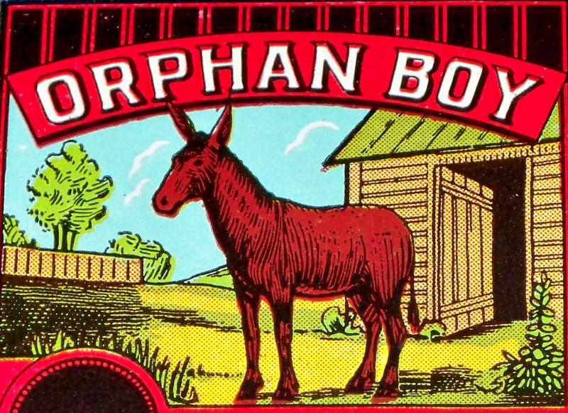 Orphan boy label 001