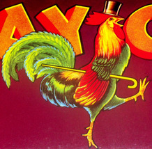 Talented Rooster! Gay Cock Crate Label, 1940's  - $3.99