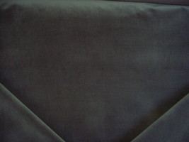 6-3/4Y DONGHIA SOLID GRAPHITE LOW PILE VELVET DRAPERY UPHOLSTERY FABRIC - $200.97