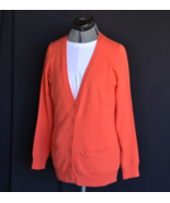 Banana Republic Sweater M Orange Blend Long Sleeve Button Down 2 Pockets - $28.50