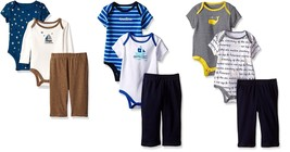 Nautica Newborn Infant Baby Boy's 3-piece Bodysuit and Pants Set, Cute Styles!