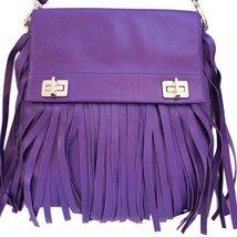 Prada Purple Leather Fringe Bag - $699.00