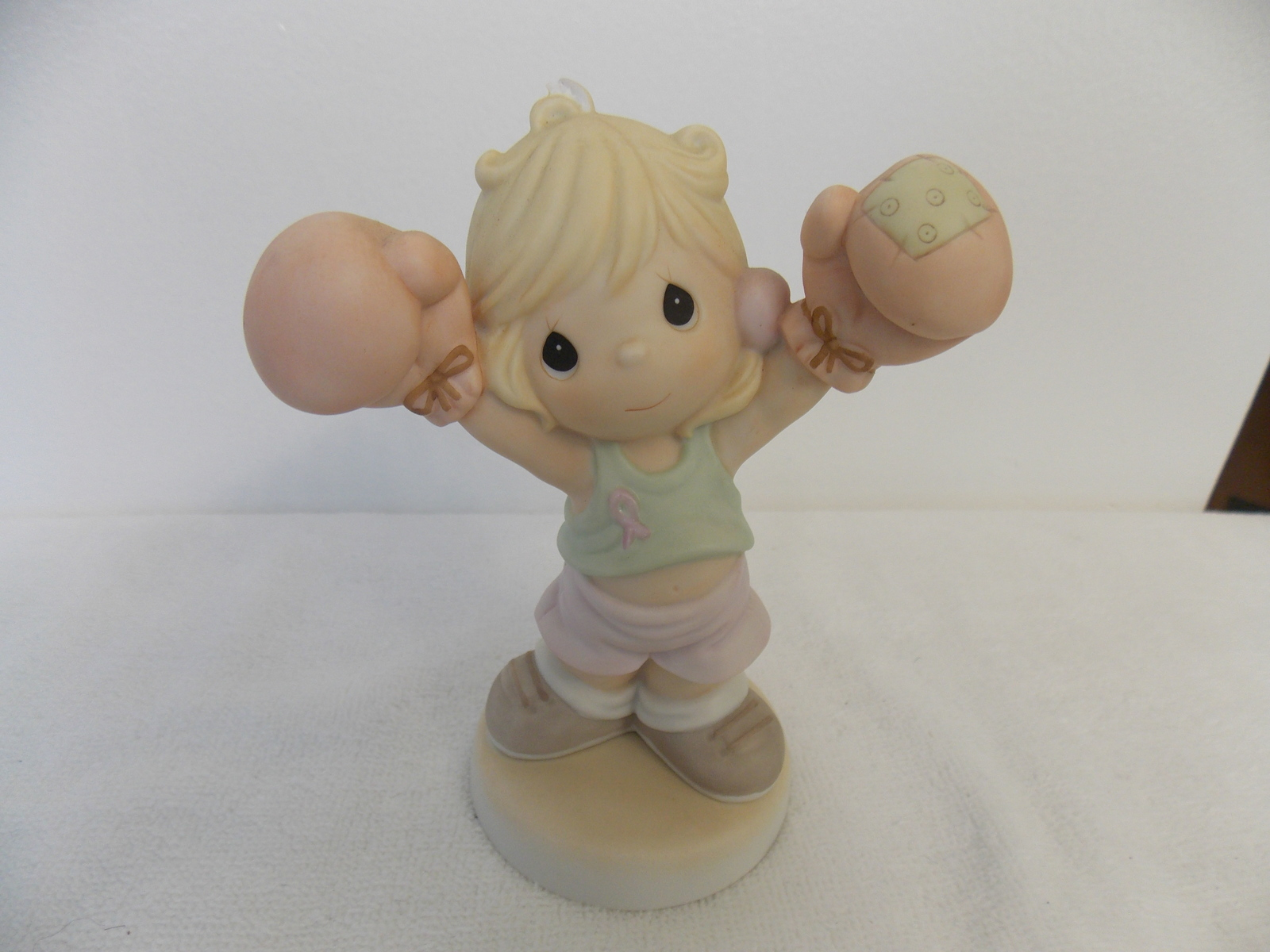 2000 Precious Moments Life is Worth Fighting for Breast Cancer Figurine