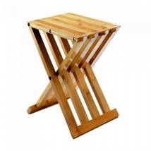 10018322 Accent Plus Bamboo Folding Stool/Table - $40.65
