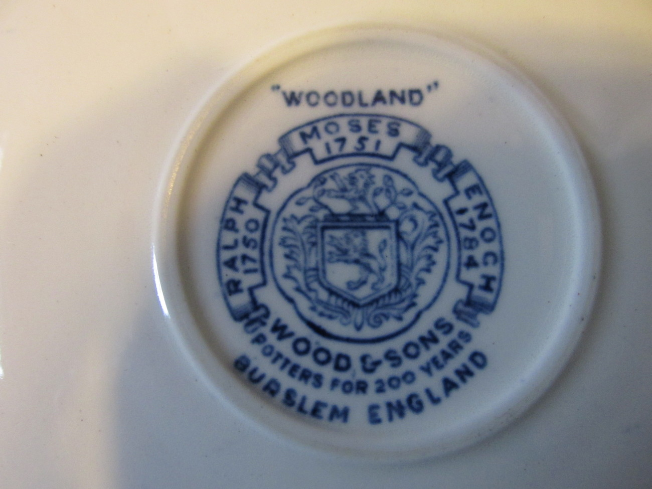 "Vintage Wood & Sons English Ironstone Cup and Saucer, ""Woodland"" Pattern - 1950s"
