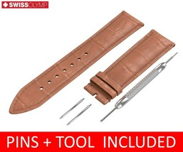For LONGINES Watch Light Brown Leather Strap Band Buckle 18 19 20 21 22mm - $12.18
