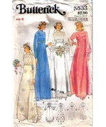 Vtg WEDDING GOWN & Bridesmaid DRESS Pattern 5533-b Size 8 - Complete - $12.99