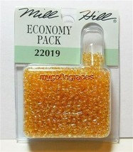 1000 Mill Hill Glass Beads Seed Round (11/0) 2.5mm #22019 Crystal Honey ... - $2.37