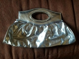 Silver Purse for any occasion - Perfect for that special black dress - $37.24