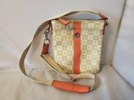 Coach Women's Crossbody Messenger Bag Beige Pink Monogram Purse - $55.79