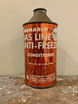1976 Monarch Chemical Gas Line Anti-Freeze Cone Top Can - $11.99