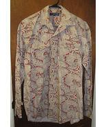 Mens Roper Western Pearl Snap Shirt Size Medium Pasiley - $14.99