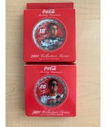 NASCAR Coca-Cola Tony Stewart & Bobby Labonte Holiday Ornament 2001 - $9.90