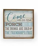 """18""""  Framed Blue Panel Porch Wall Sign w Sentiment - $44.54"""