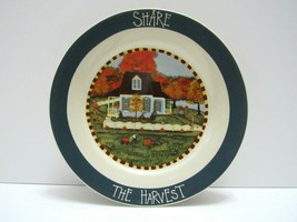 """Carriage House Thanksgiving Plate Jackie Ehman Share The Harvest 8"""" Trad... - $16.82"""
