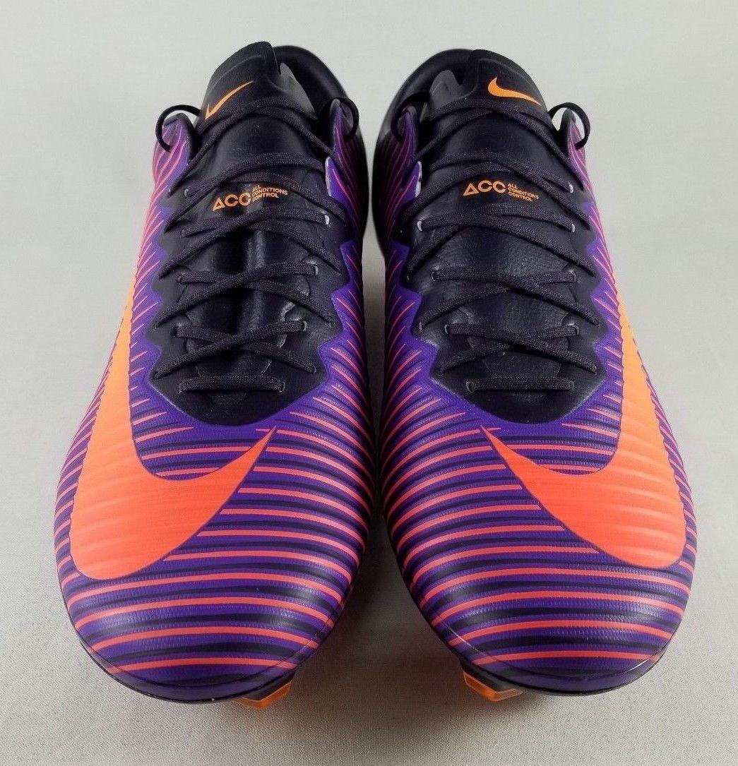 2ae1b636b Nike Mercurial Vapor XI 11 FG Mens SIZE 11.5 ACC Soccer Cleats Purple 831958 -585