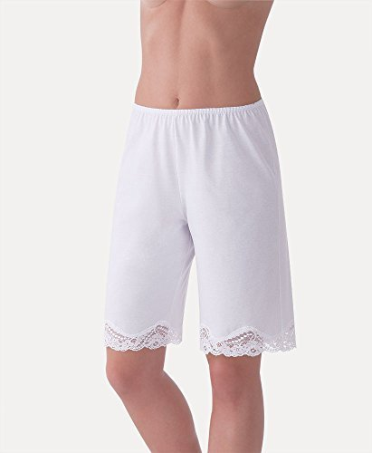 Ilusion Cotton/Polyester Lace Pettipant Slip Large White