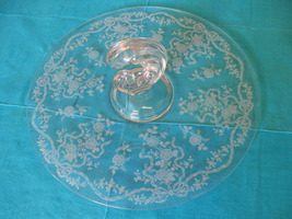 Elegant Fostoria Glass Romance Etched Serving P... - $59.99