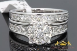 14k White Gold Over Round Diamond Cut Engagement Wedding Band Bridal Rin... - $97.99
