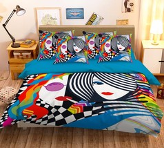 3D Women Design Bed Pillowcases Quilt Duvet Cover Set Single Queen King Size AU - $64.32+