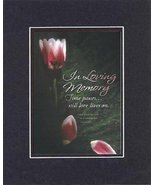 In Loving Memory . . . 8 x 10 Inches Biblical/Religious Verses set in Do... - $11.14